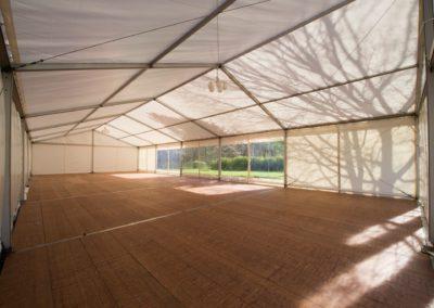 Innenansicht Zelt, Boden